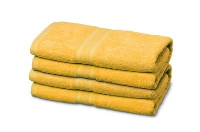 Gästehandtücher aus Flausch-Frottee yellow 12er Pack