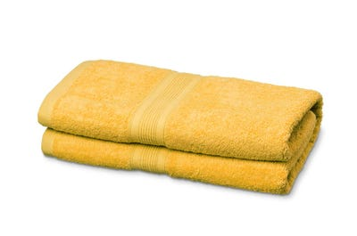 Saunalaken aus Flausch-Frottee yellow 2er Pack