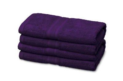 Gästehandtücher aus Flausch-Frottee purple 12er Pack