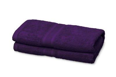 Saunalaken aus Flausch-Frottee purple 2er Pack