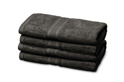Gästehandtücher aus Flausch-Frottee grey 12er Pack