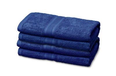 Handtücher aus Flausch-Frottee royal blue 4er Pack
