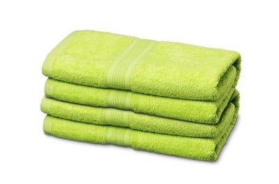 Handtücher aus Flausch-Frottee in Lime
