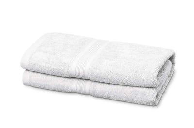 Duschtücher aus Flausch-Frottee white 2er Pack