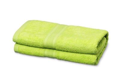 Duschtücher aus Flausch-Frottee lime 2er Pack