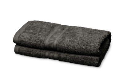 Duschtücher aus Flausch-Frottee grey 2er Pack
