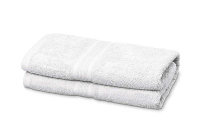 Saunalaken aus Flausch-Frottee white 2er Pack