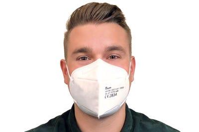 Vorschriftsgemäße Atemschutzmaske der Schutzklasse FFP2 NR im 10er Pack