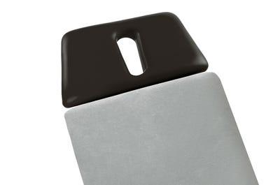 Liegen-Spannbezug 65 cm Breite ohne Kopfteil, light grey