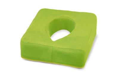 Ersatzbezug für Nasenschlitzkissen mit Gel-Einsatz lime