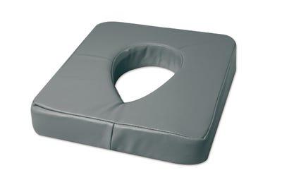 Ersatzbezug aus PU für Nasenschlitzkissen mit Gel-Einsatz grey
