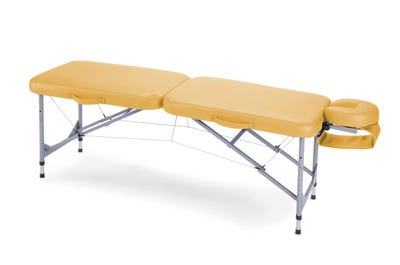 Koffer Massagebank Aluminium yellow