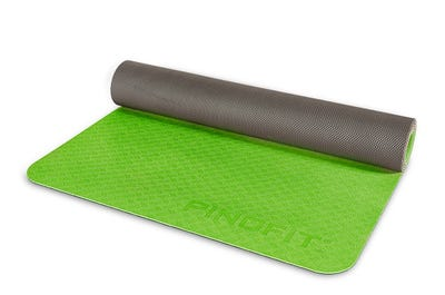 PINOFIT® Yogamatte Lightweight lime/dark grey