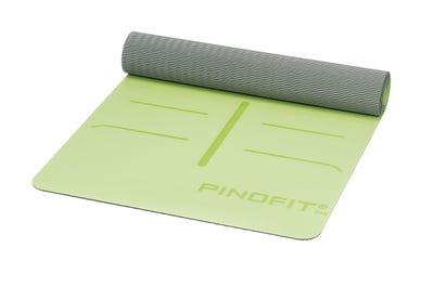 PINOFIT® Yogamatte lime/grey mit Markierungen