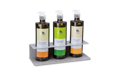 Massagehalter für 3 Massageölflaschen