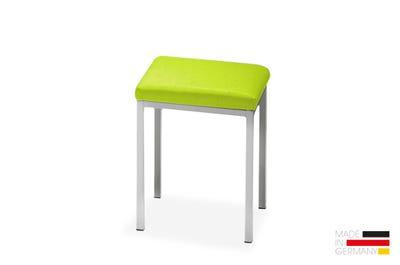 Sitzhocker aus Vierkantrohr mit Komfortpolsterung