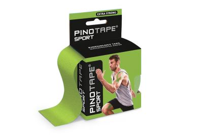 Kinesiologie Tape PINOTAPE pro Sport lime mit Verpackung