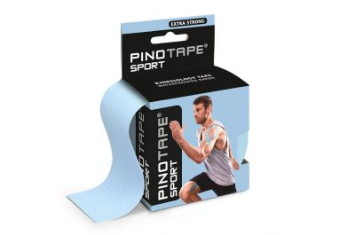 Kinesiologie Tape PINOTAPE Sport ice blue mit Verpackung