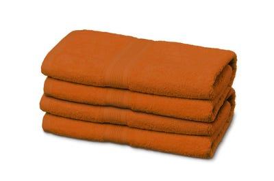 Handtücher aus Flausch-Frottee terracotta 4er Pack