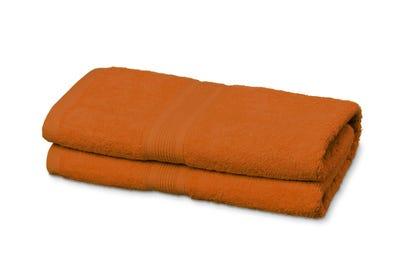 Saunalaken aus Flausch-Frottee terracotta 2er Pack