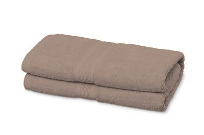 Duschtücher aus Flausch-Frottee sand 2er Pack