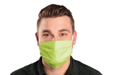Mund- und Nasenmaske in lime