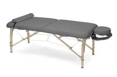 Koffer Massagebank Buchenholz dark grey