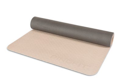 PINOFIT Yogamatte in warm grey & dark grey