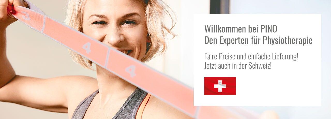 PINO Produkte für Physiotherapie, Training & Spa - jetzt auch in der Schweiz