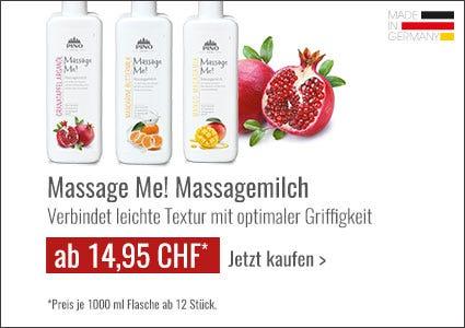 Pino Massage Me! Massagemilch Angebot